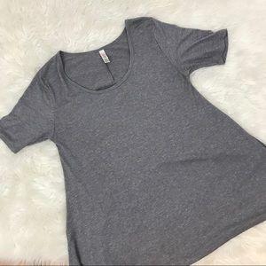 LuLaRoe Perfect T Shirt Top Gray Short Sleeve XS